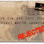 Carta de sacerdote ignorada pelo NYT