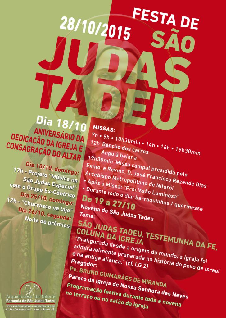 Cartaz da Festa de São Judas Tadeu 2015
